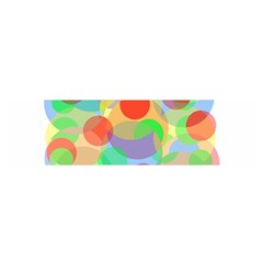 Colorful Circles Satin Scarf (oblong) by Valentinaart