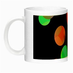 Colorful Circles Night Luminous Mugs by Valentinaart