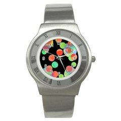 Colorful Circles Stainless Steel Watch by Valentinaart