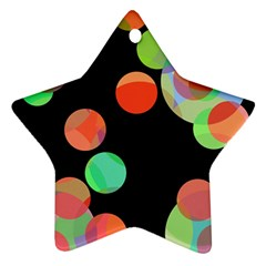 Colorful Circles Star Ornament (two Sides)  by Valentinaart