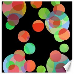 Colorful Circles Canvas 16  X 16   by Valentinaart