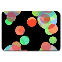 Colorful Circles Large Doormat  by Valentinaart