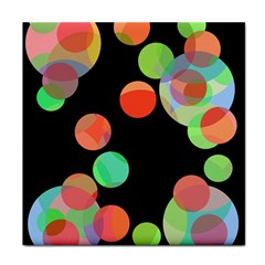 Colorful Circles Face Towel by Valentinaart