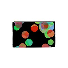 Colorful Circles Cosmetic Bag (small)  by Valentinaart