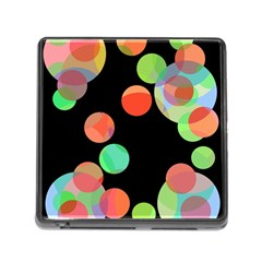 Colorful Circles Memory Card Reader (square) by Valentinaart
