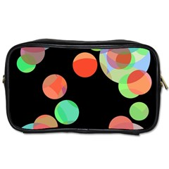 Colorful Circles Toiletries Bags 2 Side by Valentinaart