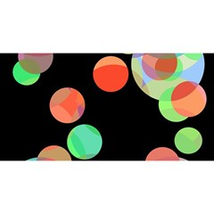 Colorful Circles You Are Invited 3d Greeting Card (8x4)