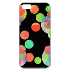 Colorful Circles Apple Seamless Iphone 5 Case (clear) by Valentinaart
