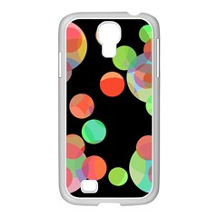 Colorful Circles Samsung Galaxy S4 I9500/ I9505 Case (white) by Valentinaart
