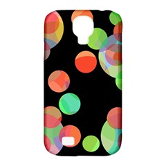 Colorful Circles Samsung Galaxy S4 Classic Hardshell Case (pc+silicone) by Valentinaart