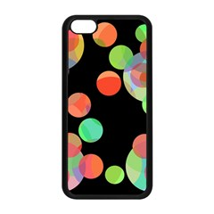 Colorful Circles Apple Iphone 5c Seamless Case (black) by Valentinaart