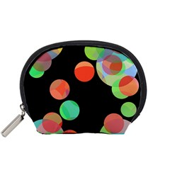 Colorful Circles Accessory Pouches (small)  by Valentinaart