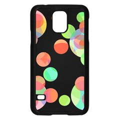 Colorful circles Samsung Galaxy S5 Case (Black) by Valentinaart