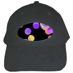 Colorful Decorative Circles Black Cap by Valentinaart