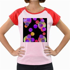 Colorful Decorative Circles Women s Cap Sleeve T Shirt by Valentinaart