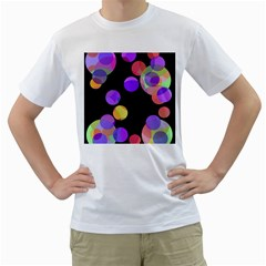 Colorful Decorative Circles Men s T Shirt (white) (two Sided) by Valentinaart
