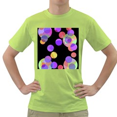 Colorful Decorative Circles Green T Shirt by Valentinaart
