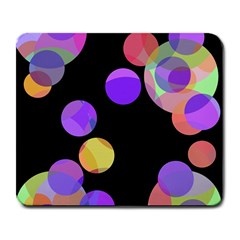 Colorful Decorative Circles Large Mousepads by Valentinaart