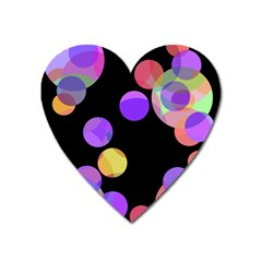 Colorful Decorative Circles Heart Magnet by Valentinaart