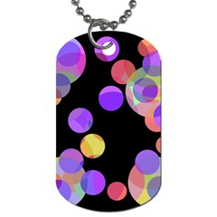 Colorful Decorative Circles Dog Tag (one Side) by Valentinaart