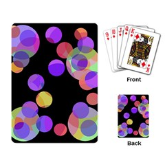 Colorful Decorative Circles Playing Card by Valentinaart