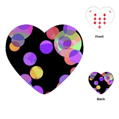 Colorful Decorative Circles Playing Cards (heart)  by Valentinaart