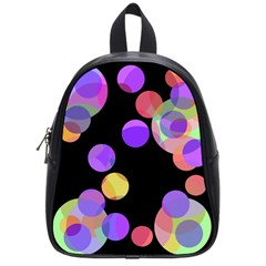 Colorful Decorative Circles School Bags (small)  by Valentinaart