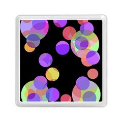 Colorful Decorative Circles Memory Card Reader (square)  by Valentinaart