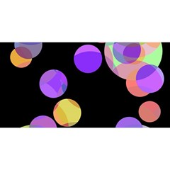 Colorful Decorative Circles You Are Invited 3d Greeting Card (8x4)