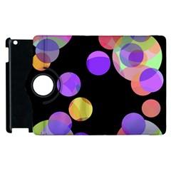 Colorful Decorative Circles Apple Ipad 3/4 Flip 360 Case by Valentinaart