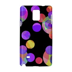 Colorful Decorative Circles Samsung Galaxy Note 4 Hardshell Case by Valentinaart