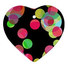 Colorful Decorative Circles Ornament (heart)  by Valentinaart