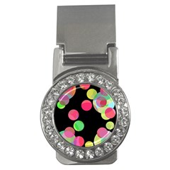 Colorful Decorative Circles Money Clips (cz)  by Valentinaart