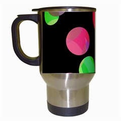 Colorful decorative circles Travel Mugs (White)