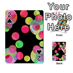 Colorful Decorative Circles Playing Cards 54 Designs