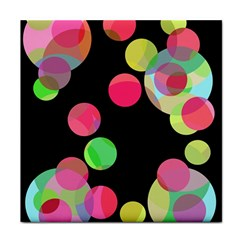 Colorful Decorative Circles Face Towel by Valentinaart