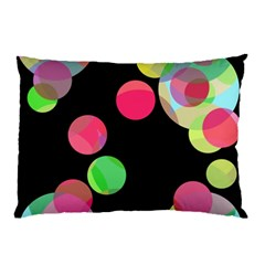 Colorful Decorative Circles Pillow Case (two Sides) by Valentinaart