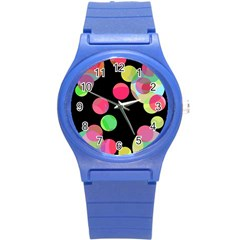 Colorful Decorative Circles Round Plastic Sport Watch (s) by Valentinaart