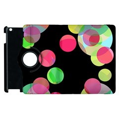 Colorful Decorative Circles Apple Ipad 2 Flip 360 Case by Valentinaart