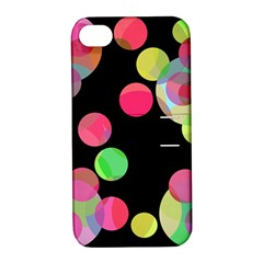 Colorful Decorative Circles Apple Iphone 4/4s Hardshell Case With Stand by Valentinaart