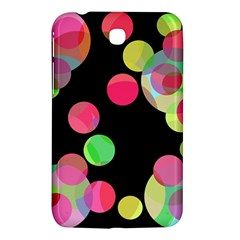 Colorful Decorative Circles Samsung Galaxy Tab 3 (7 ) P3200 Hardshell Case  by Valentinaart