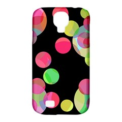 Colorful Decorative Circles Samsung Galaxy S4 Classic Hardshell Case (pc+silicone) by Valentinaart