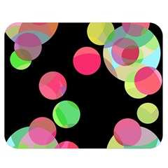 Colorful Decorative Circles Double Sided Flano Blanket (medium)  by Valentinaart
