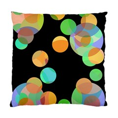 Orange Circles Standard Cushion Case (one Side) by Valentinaart