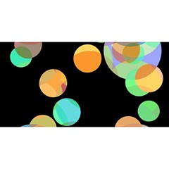 Orange Circles You Are Invited 3d Greeting Card (8x4)