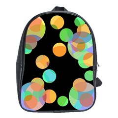 Orange Circles School Bags (xl)  by Valentinaart