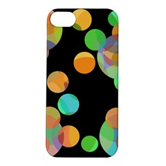 Orange Circles Apple Iphone 5s/ Se Hardshell Case by Valentinaart