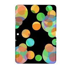 Orange Circles Samsung Galaxy Tab 2 (10 1 ) P5100 Hardshell Case  by Valentinaart