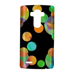 Orange Circles Lg G4 Hardshell Case by Valentinaart