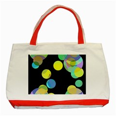 Yellow Circles Classic Tote Bag (red) by Valentinaart